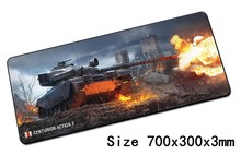World of tanks mouse pad 700x300x3mm pad to mouse notbook computer mousepad Custom gaming padmouse gamer to laptop mouse mat(China)