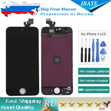 SHIP FROM RUSSIA Display For iPhone 5 Display Touch Screen display for iphone5 lcd Digitizer Assembly Black + Tools