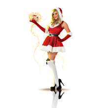 Sexy Cosplays Christmas Costume Party Christmas Miss Santa Dress Santa Claus Costumes(China)