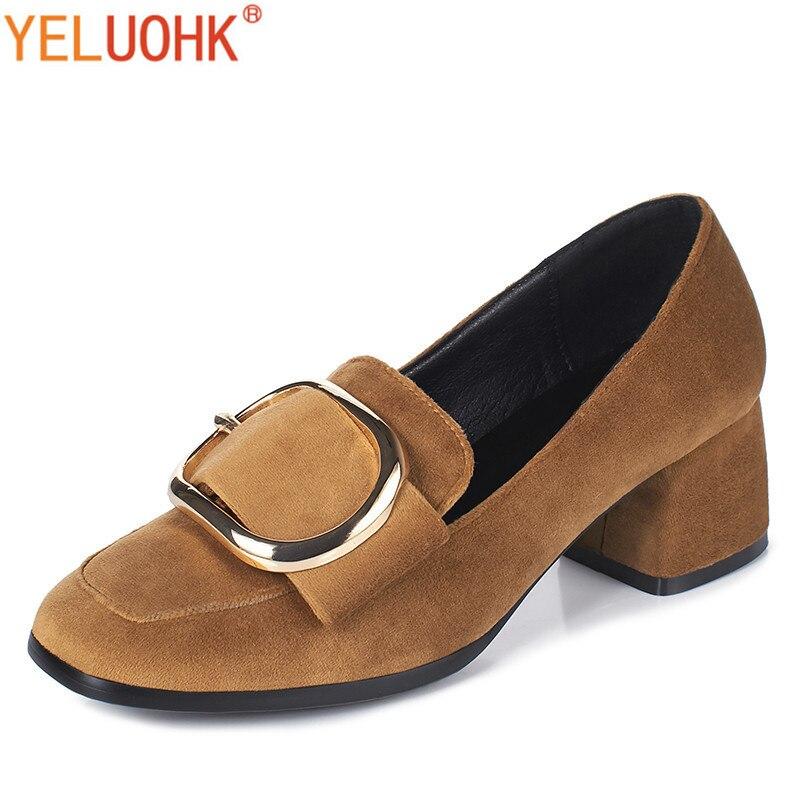 34-42 Med Heels Shoes Women Pumps High Quality Women Autumn Shoes Heels Women Shoes Big Size<br>