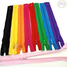HL 20pcs 24cm length mix color nylon zippers apparel bags tailor accessories sewing tools A383(China)