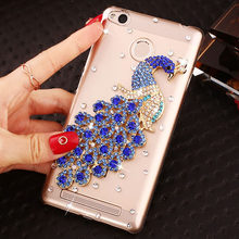 Fashional Luxury Rhinestone Phone Case Cover for XiaoMi RedMi 3/3X.Cute Camellia Crystal Cell Phone Case Cover for RedMi 3S