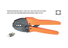 Ratchet crimping plier 11,8.2,5.4mm2  BNC Dedicated cable connector crimping tool