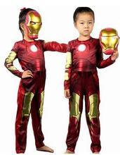 Iron Man boy Costume Ironman superhero for movie kids costumes for children halloween party cosplay Birthday Gift E43