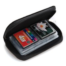 NEWBRAND 22 slots case pouch holder wallet for SD SDHC MMC CF Micro SD Memory Card(China)