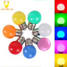 New Led E27 Christmas E27 Led Bulb 3W Energy Saving Bulb White Red Blue Green Yellow Orange Pink Lampada Led for Home Lighting(China)