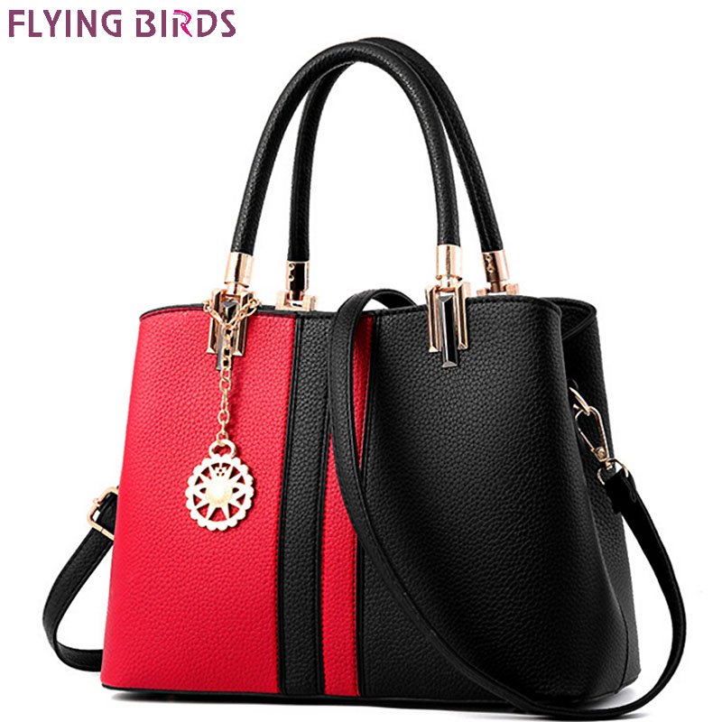 FLYING BIRDS fashion Women handbag designer women bags brands high quality shoulder bag patchwork ladies tote bolsas LM4140fb<br>