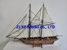 NIDALE model Laser-cut Wooden Ship model Kits Halko 1840 western Sail boat DIY Scientific Periodicals Kit (Free 2 pcs barrels)