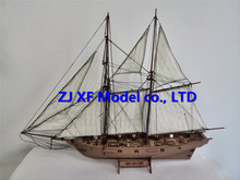 NIDALE model Laser-cut Wooden Ship model Kits Halko 1840 western Sail boat DIY Scientific Periodicals Kit (Free 2 pcs barrels)(China)