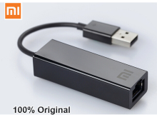 Original Xiaomi USB to RJ45 External Ethernet Card lan Adapter 10/100Mbps  for xiaomi TV BOX 3 Pro 3s Mac OS laptop PC  Smart