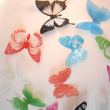 12pcs multicolour 3D Butterfly Wall Stickers Butterflies Decors For Home Fridage Wall Room Decoration Gossip Girl Same Style