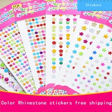 DIY colorful Acrylic crystal stickers decorative stickers Diamond Self-adhesive Rhinestones sticker Children's toys sticker