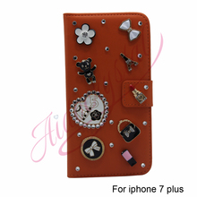 Aidocrystal Fashion soft red leather Customized cheap cell phone accessories For APPLE iPhone 7 + Unique Phone Cover Cases Cool