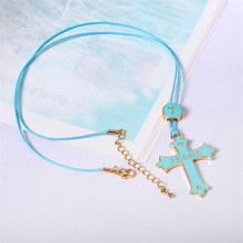 Cross Drop Necklace Source Factory Jewelry Japan Soft Sister Series Warm Long Section Wholesale(China)