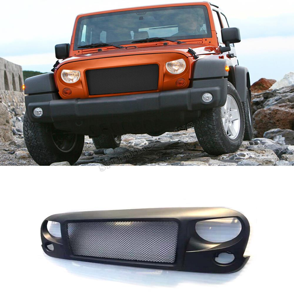 Avenger style ABS front grill grille for Jeep Wrangler 2007-2015<br><br>Aliexpress