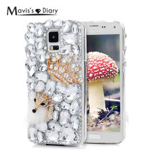 3D Bling Rhinestone Diamond Case For Samsung Galaxy S4 S5 9600 S6 Edge Plus Note 4 5 G530 G5308 Glitter Crystal Hard PC Cover(China)