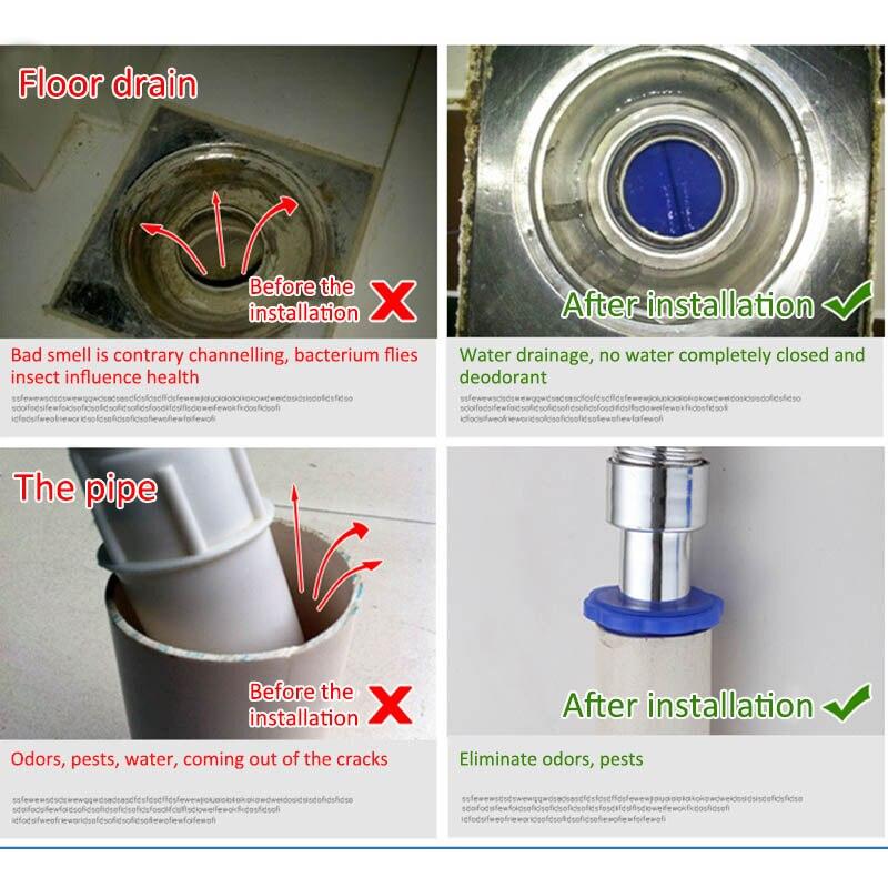 Sewer Floor Drain Core Sewer Deodorant Cover Sealing Ring Surfilter Floor Drain Deodorant and Insect Repellent Device Bathroom Anti-Odor Silicone Core C