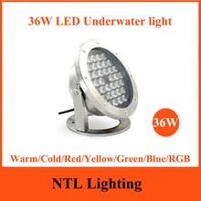 New 36W LED Underwater light IP68 waterproof lamp lights ACDC 12V 24V for Fountain Pool Pond Fish Tank Aquarium Park Freeship