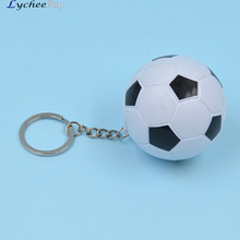 fashion lychee Novelty Sport Football Shaped Ballpoint Pen Keyfob Key Ring Keychain Toy Gift