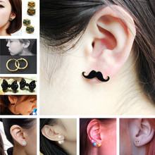 Stud Earrings Simulated Pearls Crystal Infinity Bow Cat Bijoux Fashion Jewelry Brincos Earing 2017 pendientes mujer(China)