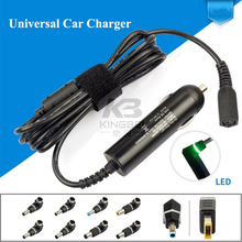 Slim 90W Universal Car Charger with 10 Detachable connector Plug For Lenovo Thinkpad Hp envy Toshiba HP Dell Sony laptop adapter
