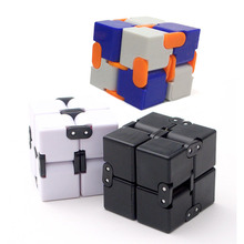 Wholesale 20pcs/lot Magic Cube ABS Infinity Cube For Stress Relief Fidget Anti Anxiety Stress EDC Toy Educational puzzle cubes(China)