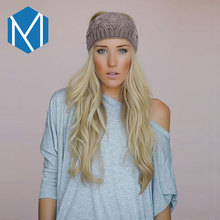 M MISM 2017 Girl Warm Knit Double Edge Wide Side Headband Wool Hair Bands Handmade Crochet Turban Wrap Hair Accessories Headwear(China)