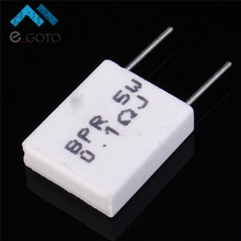 10pcs 0.1ohm Non-inductive Cement Resistor 5W 0.1R Resistance for DIY Components