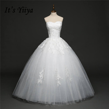 Buy It's YiiYa White Sleeveless Strapless Popular Bride Dresses Floor Length High Embroidery Vintage Wedding Frock HS273 for $40.09 in AliExpress store