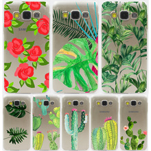 Plants Cactus Banana Leaves Hard Transparent Case for Samsung Galaxy S3 S4 S5 & Mini S6 S7 S8 Edge Plus