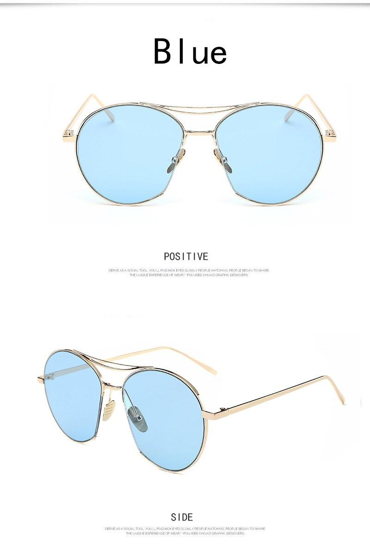 New sunglasses Korean version sunglasses fashionable color film sunglasses  brand Ladies Sunglasses