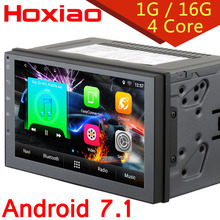 2 din Android 7.1 Radio gps multimedia navigation audio For Nissan VW BYD TOYOTA Hyundai TIIDA TB I20 7 inch 2din Car dvd player(China)