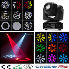 High quality 30W LED Moving Head Light RGBW DMX 512 Stage Disco Lighting (black) 30W gobo light