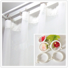 Curtain accessories roman ring grommet for curtain Window hole-digging rod ring hanging plastic rings for Roman Rod