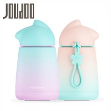 JOUDOO Cute Rainbow Candy Color Water Bottle 300ml Stainless Steel Vacuum Flasks Children Kids School Drinking Thermo Tumbler