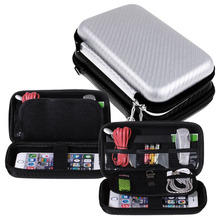 Carrying Gadget Storage Bag Pouch Hard Case Organizer for Cable Phone Earphone SD TF Card(China)