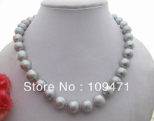 Charming! 13MM Grey Pearl Necklace