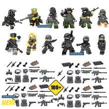12Pcs/Lot Swat Police Team Military soldier with Guns Block Army Assault Building brick Boys Game Kids Hobbies Gift Toys(China)
