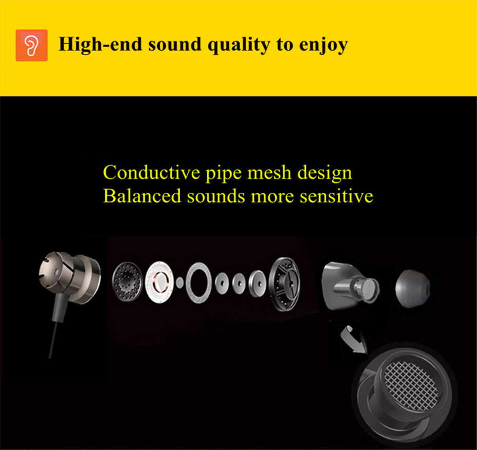 ME30 Metal Earphones Sports Noise Cancelling Headphones for Phone Stereo Headset with Mic for Xiaomi Computer iPHone (10)