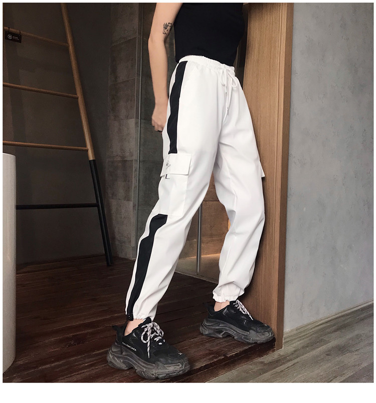 Hot Big Pockets Cargo pants women High Waist Loose Streetwear pants Baggy Tactical Trouser hip hop high quality joggers pants 21