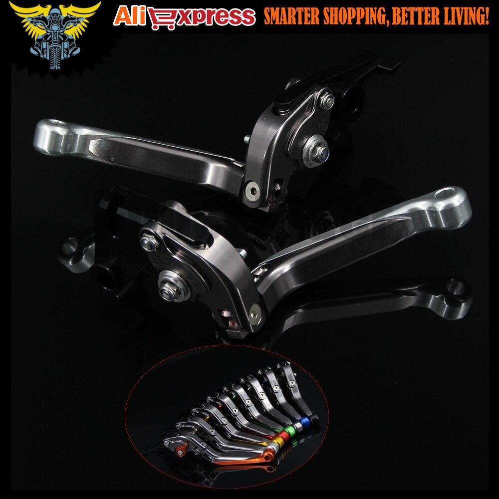 Sliver+Titanium 8 Colors CNC Adjustable Folding Extendable Motorcycle Brake Clutch Levers For SUZUKI GSF650 BANDIT 2007<br><br>Aliexpress