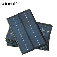 Xionel 3W 9V Polycrystalline Silicon Solar Cell Panel DIY Charger Battery Mini Solar Panel DIY Solar Module 125x195mm(China)