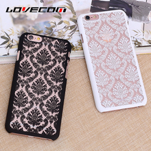 LOVECOM Vintage Retro Hollow Flowers Embossed Frosted PC Hard Phone Case For iPhone 4 4S 5C 5 5S SE 6 6S 6Plus 6SPlus Best Price