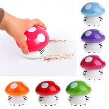 Charming Mini Mushroom Vacuum Cleaners Cute Shaped Table Dust Cleaning Sweepers 6 colors(China)