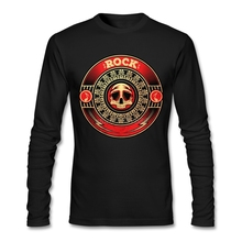 Rock Vinyl T Shirt 3d 2017 Fashion Men Round Collar Clothing Cheap Wholesale Long Sleeve Men Tee Shirts