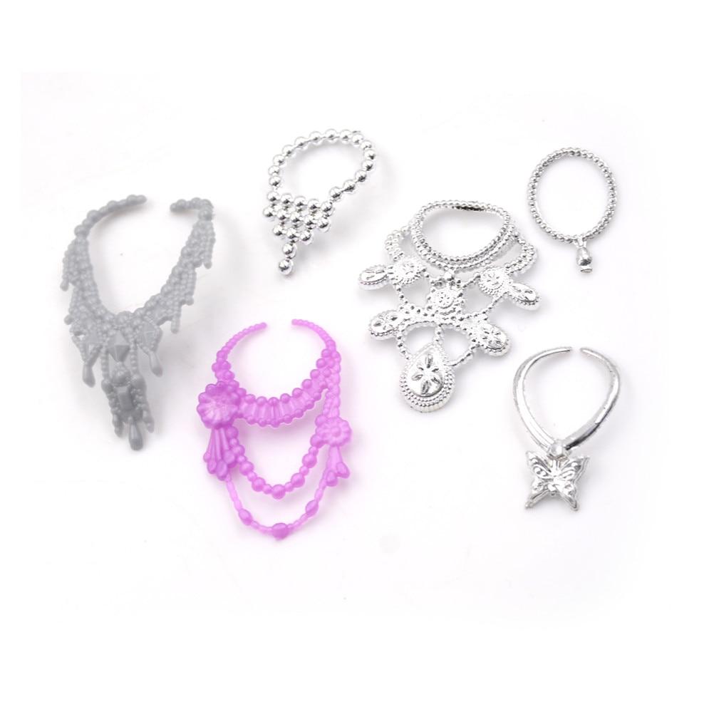 6pcs Fashion Plastic Chain Necklace for  Sindy Dolls Accessories