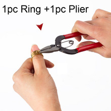 2pcs/Lot Metal Jump Ring Opener + Plier Jewelry Finding Making Tool Set Opening Closing Finger Ring Circle Bead DIY Accessories