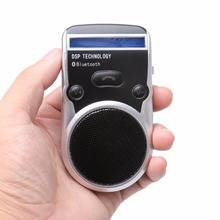 Wireless Bluetooth Handsfree Car Kit Solar Power Speakerphone Stereo Bass For Iphone Android Dual Phone Connect with LCD display(China)