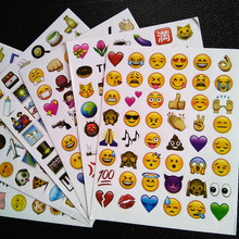 Cartoon sticker toy lot Classic /face/9.1 New Emoji stickers (48 Die Cut ) sticker for notebook fun message Vinyl*funny*creative