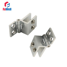 4pcs Adjustable 0 Degree Cabinet Glass Door Hinge Wall to Glass Door Clip Hinges Fit for 6-8mm Shower Glass Hinge Clamp(China)